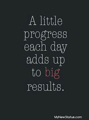A little progress each day adds up to big results. #MotivationalQuotes #Quotes #quotesoftheday MyNewStatus.com