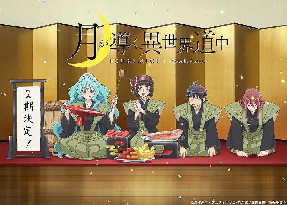 Segunda Temporada do Anime Tsuki ga Michibiku Isekai Douchuu é Confirmada