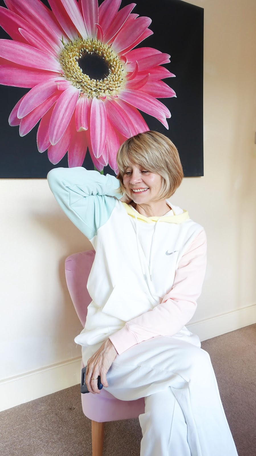 Gail Hanlon from Is This Mutton snapped up this Nike oatmeal and pastel hoody and pants in July and it's already sold out
