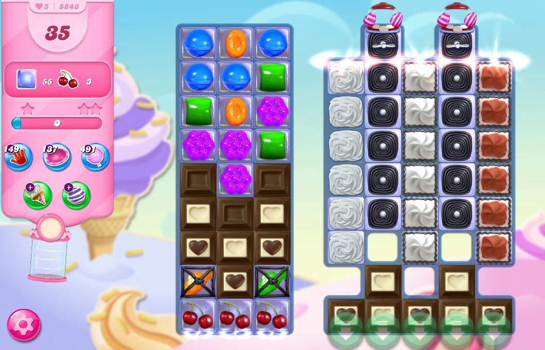Candy Crush Saga level 5848