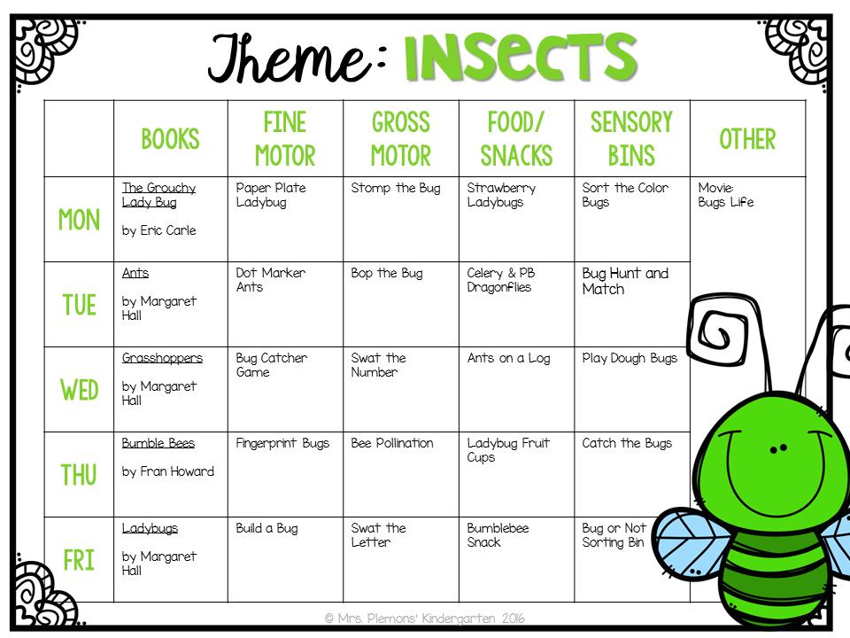 preschool bug lesson plans tot school insects mrs plemons kindergarten 811