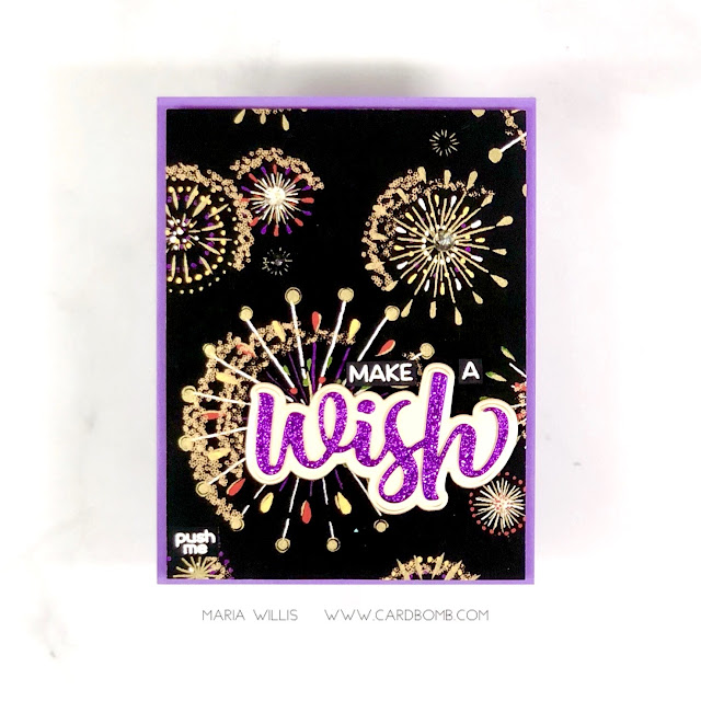 Maria Willis, Cardbomb, HAI Supply, Pear Blossom Press, light-up card,#video, #videotutorial,  #cards, #stamp, #ink, #paper, #craft, #papercraft, #creative, #handmade, #handmadecards, #art, #diy, #copicmarkers, #copics, #honeybeestamps, Erin Lee Creative, interactive cards,