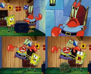 Polosan meme spongebob dan patrick 149 - spongebob marah ke tuan krab