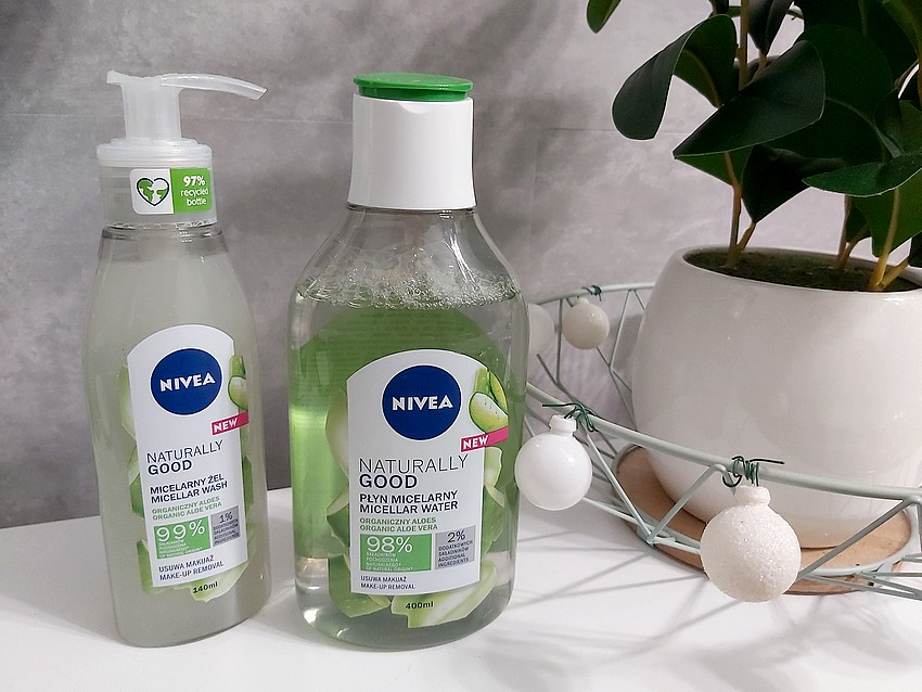 nivea naturally good make-up removal