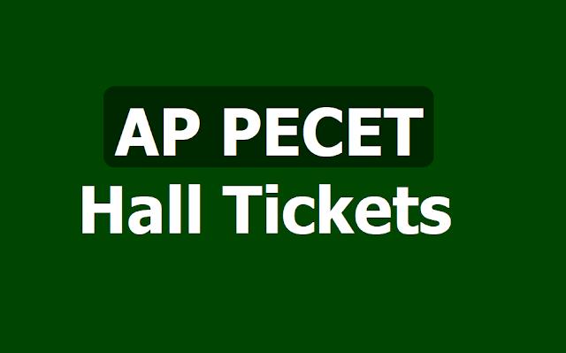 AP PECET Hall Tickets,APPECET Admit Cards