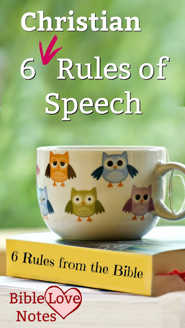 """These """"Christian Rules of Speech"""" come straight from Scripture to help us develop Godly speech patterns."""