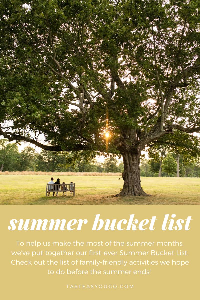 Summer Bucket List   Taste As You Go