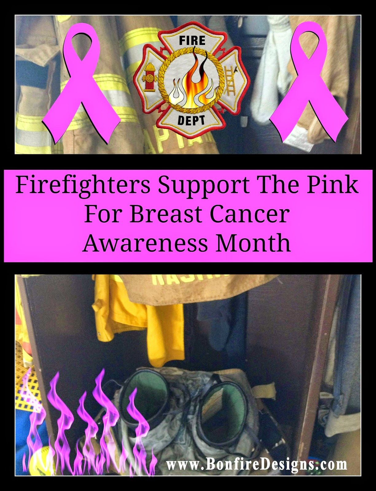 Firefighters Go Pink To Support Breast Cancer Awareness Month