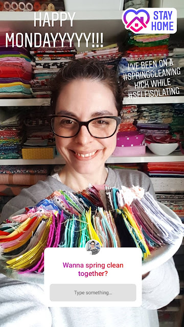 Shannon Fraser in her sewing room | 7 Day Scrap Sorting Challenge | Shannon Fraser Designs #fabricscraps #scrapsstorage