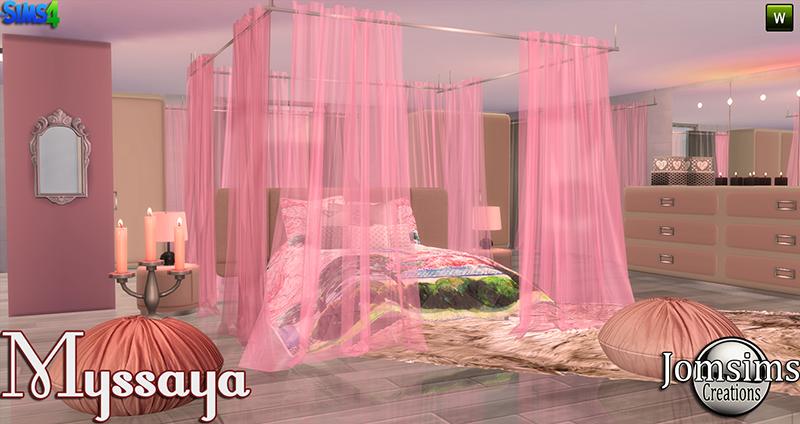 My Sims 4 Blog Myssaya Bedroom Set by JomSims