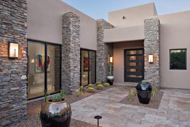 15 diseños modernos de entradas de casas