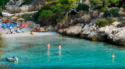Плайя Эль Маго, нудистский пляж Майорка, Испания, пляжи в Магалуфе