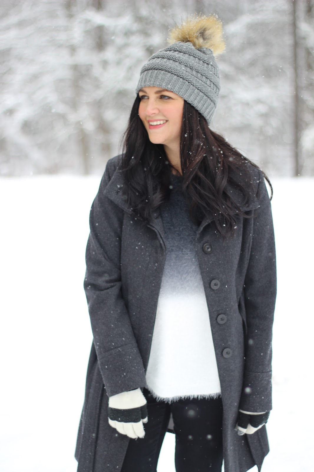Cozy snow day outfit