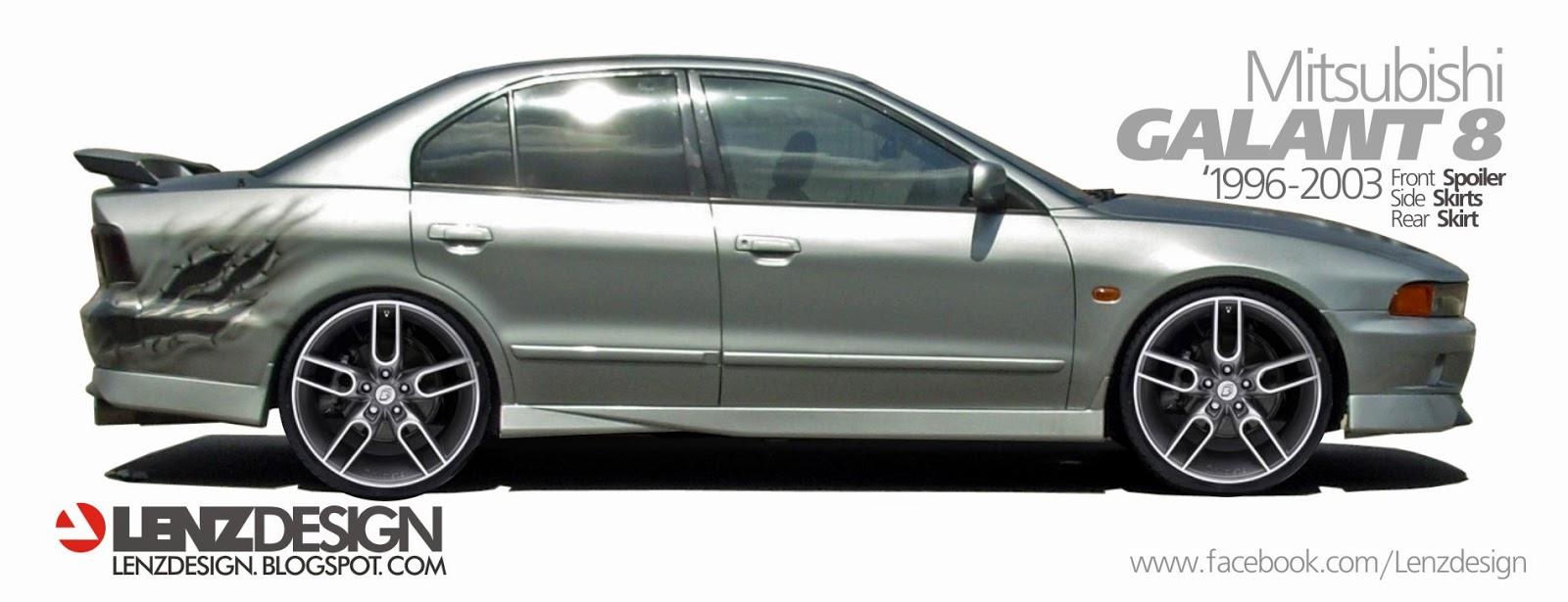 Mitsubishi Galant Tuning Lenzdesign Performance Body Kit