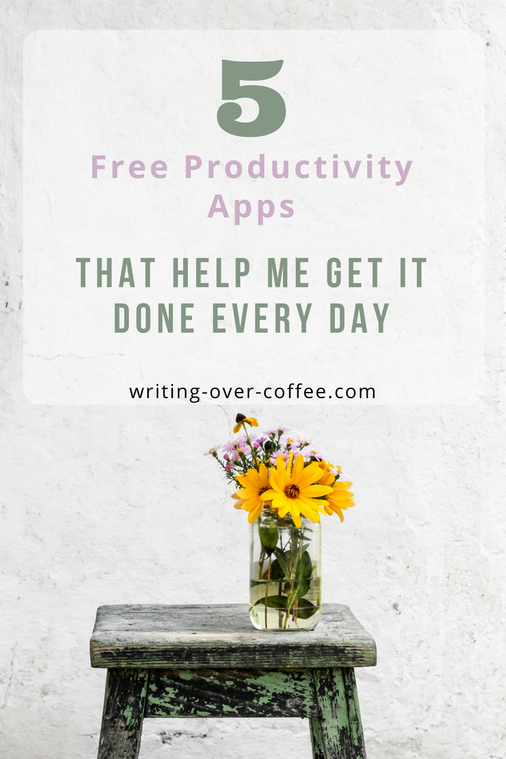 5 free productivity apps image for pinterest