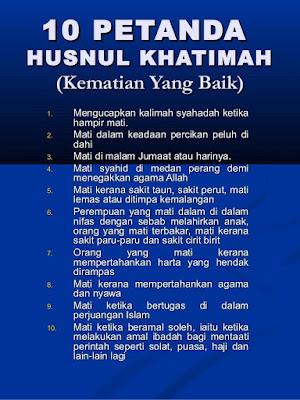 10 Petanda Kematian Yang Baik Husnul Khatimah