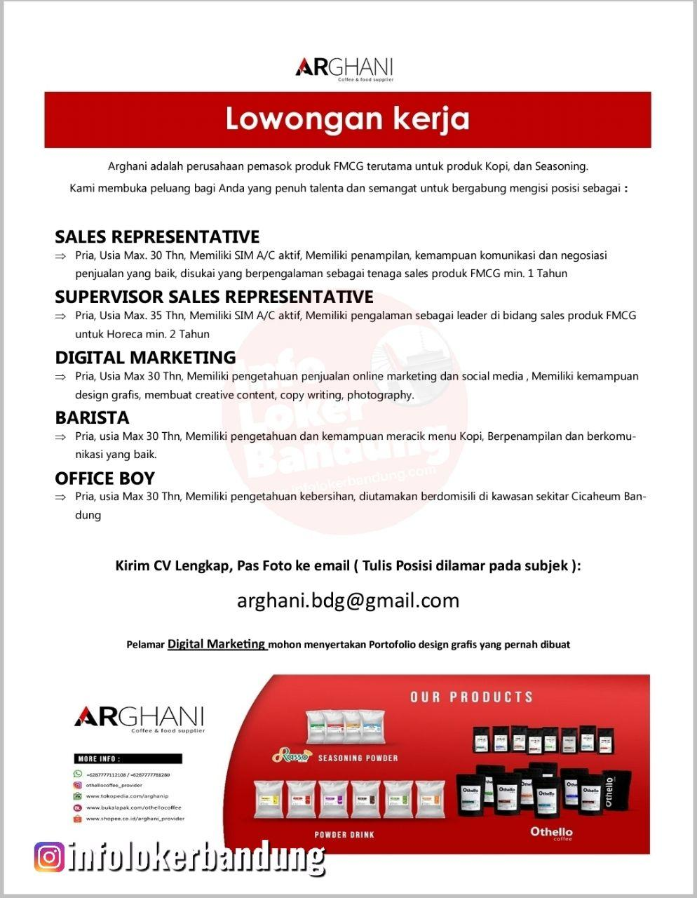 Lowongan Kerja Arghani Bandung Februari 2020
