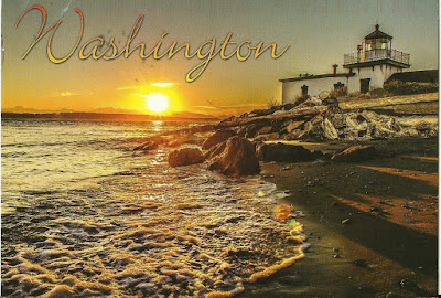 A Postcard A Day - Tuesday 4 July 2017 - T for Washington, orange shirts and Amish
