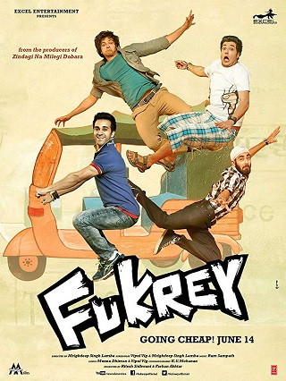 Fukrey 2013 Hindi Full Movie Download 950MB HDRip 720p Watch Online 9xmovies Filmywap Worldfree4u