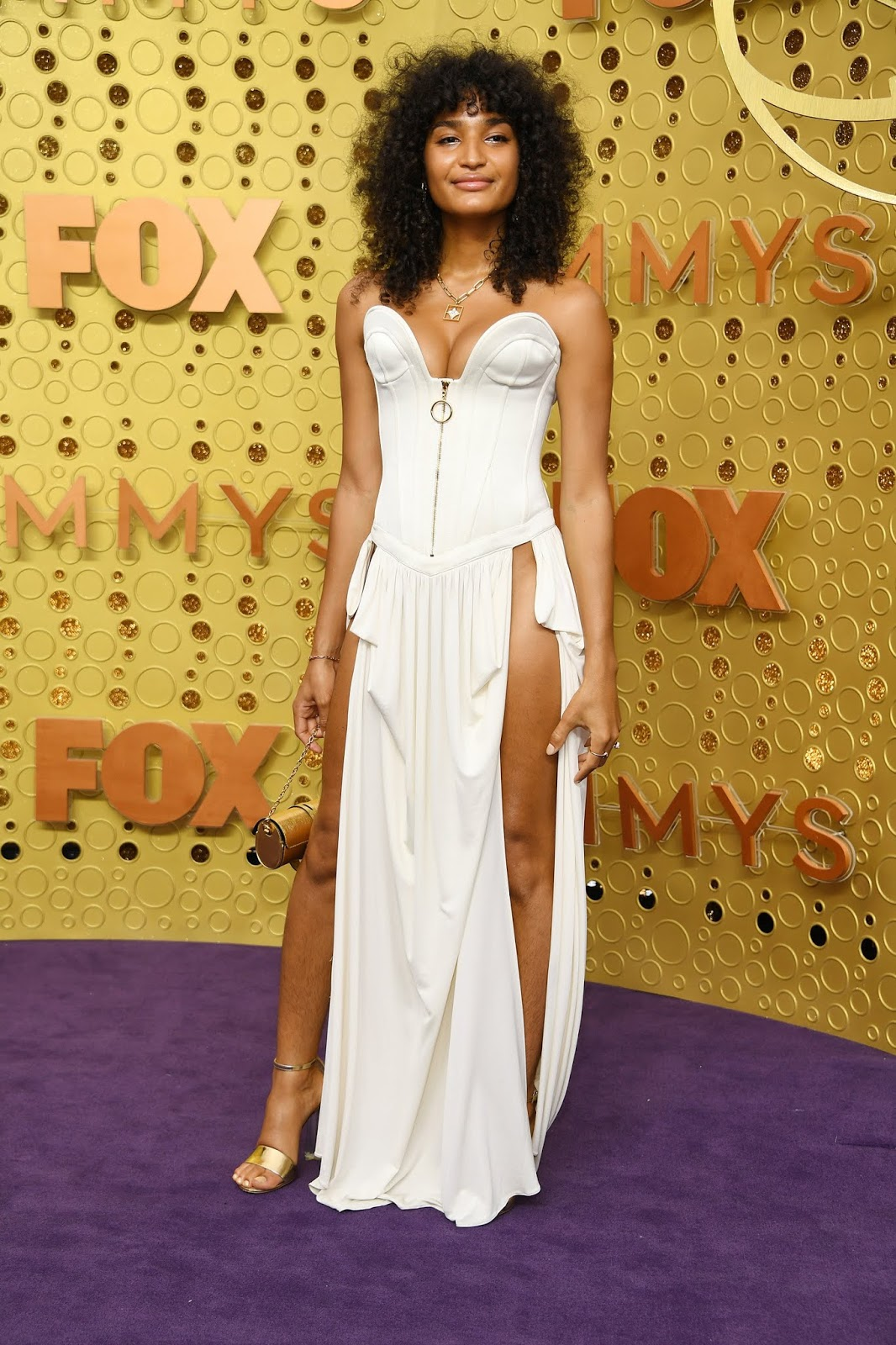 Actress Indya Moore shocked fans with her revealing dress on the Emmys red carpet