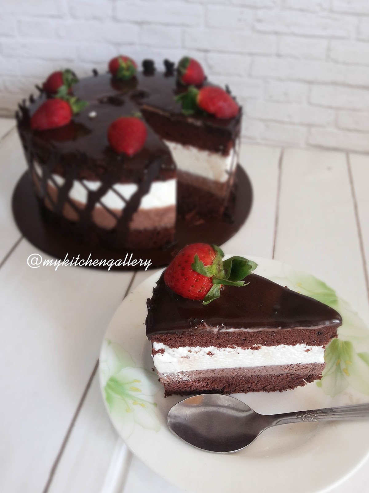 Triple Chocolate Mousse Cake Just My Ordinary Kitchen