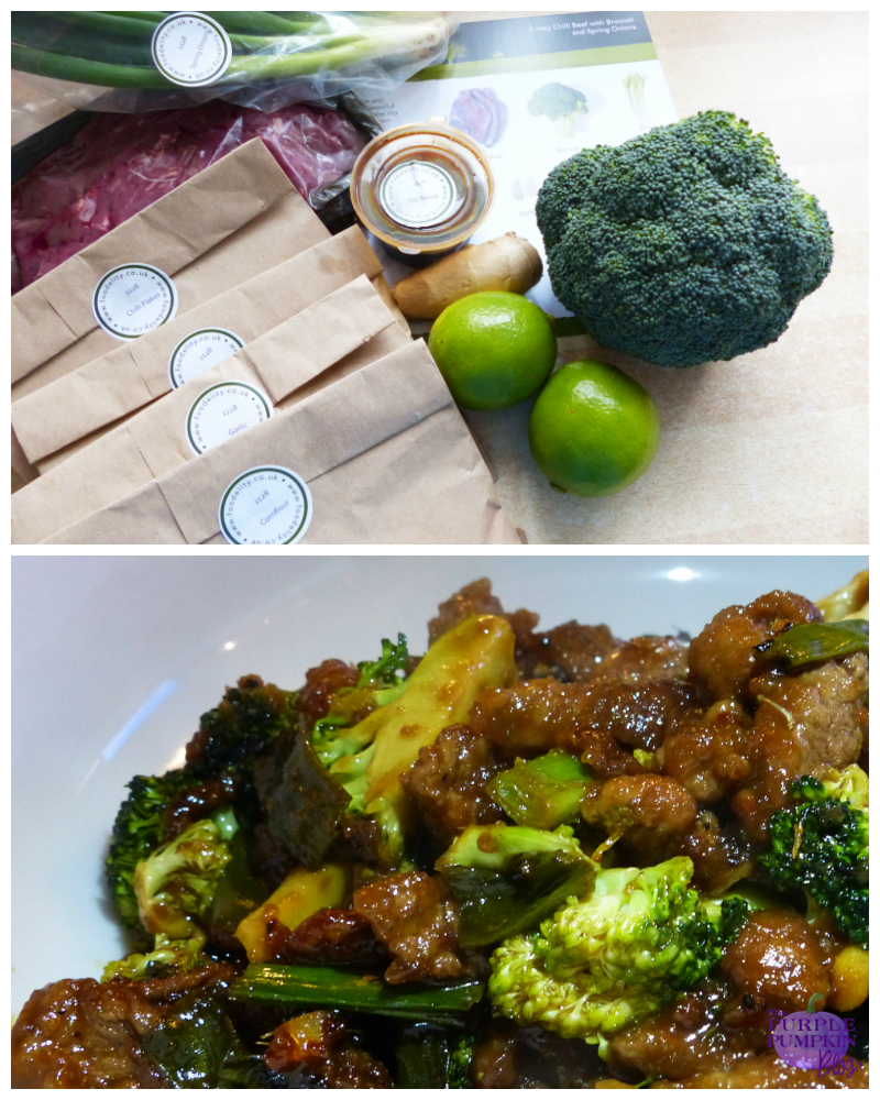 Crispy Chilli Beef with Broccoli and Spring Onions