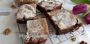 Шоколадово брауни с бадемово брашно и орехи * Brownie di cioccolato e mandorle con noci