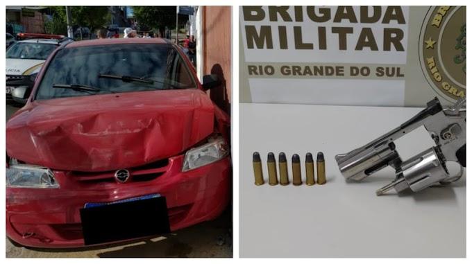 Roubaram um carro e foram pegos pela Brigada Militar em Gravataí