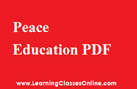 Peace Education engilsh, Peace Education ebook, Peace Education b.ed,