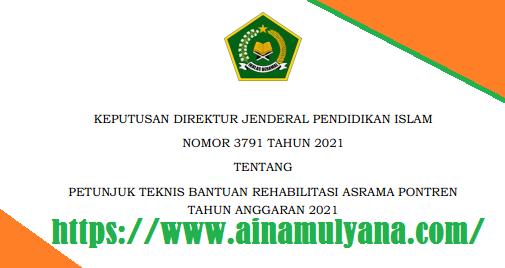 Juknis Bantuan Rehabilitasi Asrama Pontren Tahun Anggaran 2021