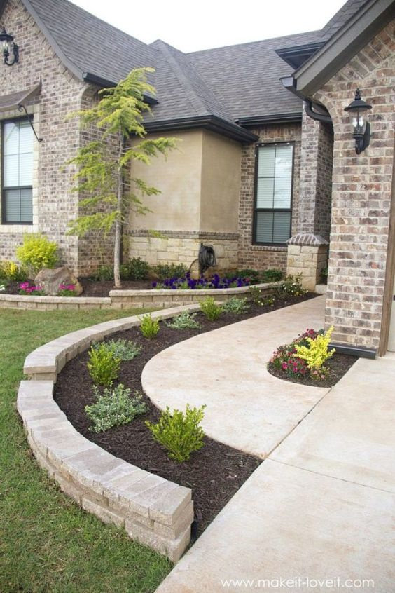 47 Cheap Landscaping Ideas For Front Yard - A Blog on Garden on Backyard Hardscape Ideas  id=88593