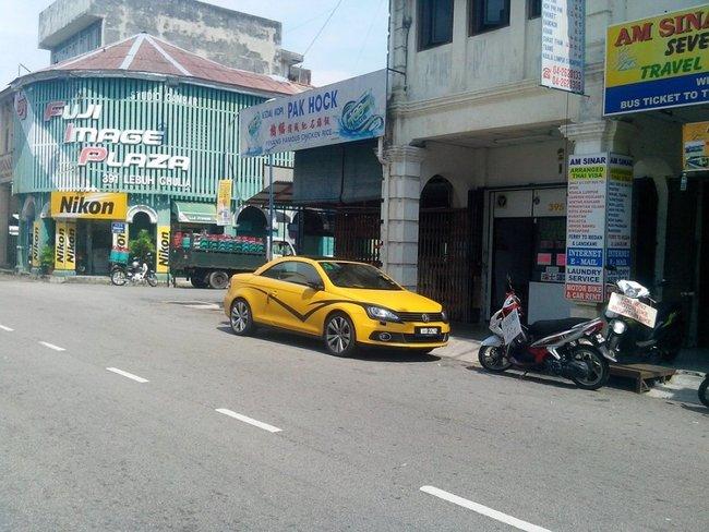 желтый фольксваген