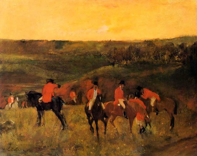 Эдгар Дега - Начало охоты (1863-1865)