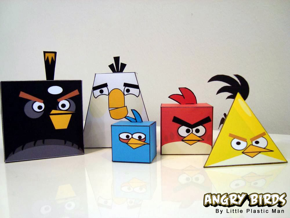 Angry Birds Paper Toy Set