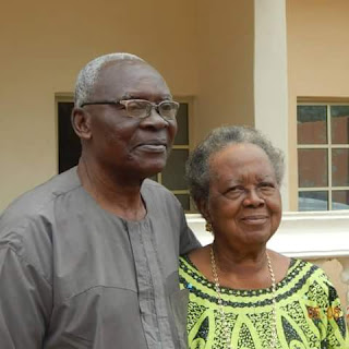 Col. Oji and wife, Christiana.