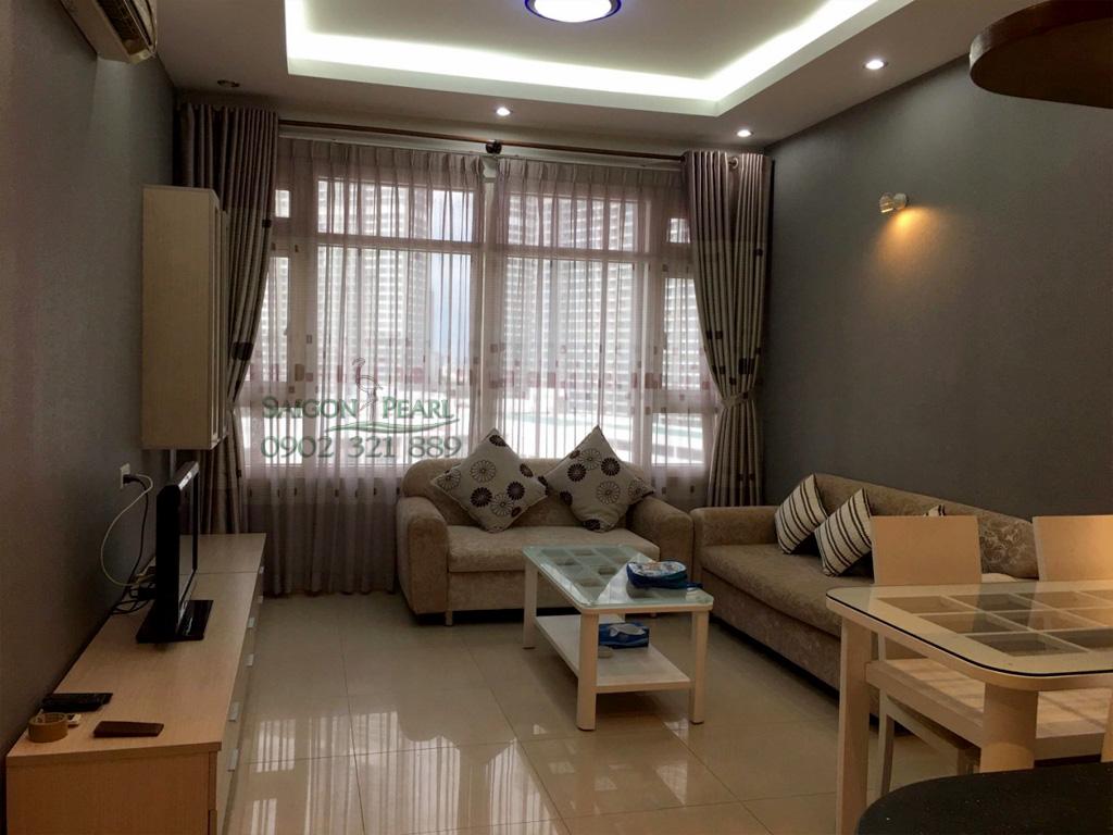 Topaz 2 Saigon Pearl cho thuê căn hộ 86m2 full nội thất tầng thấp giá rẻ - phòng khách