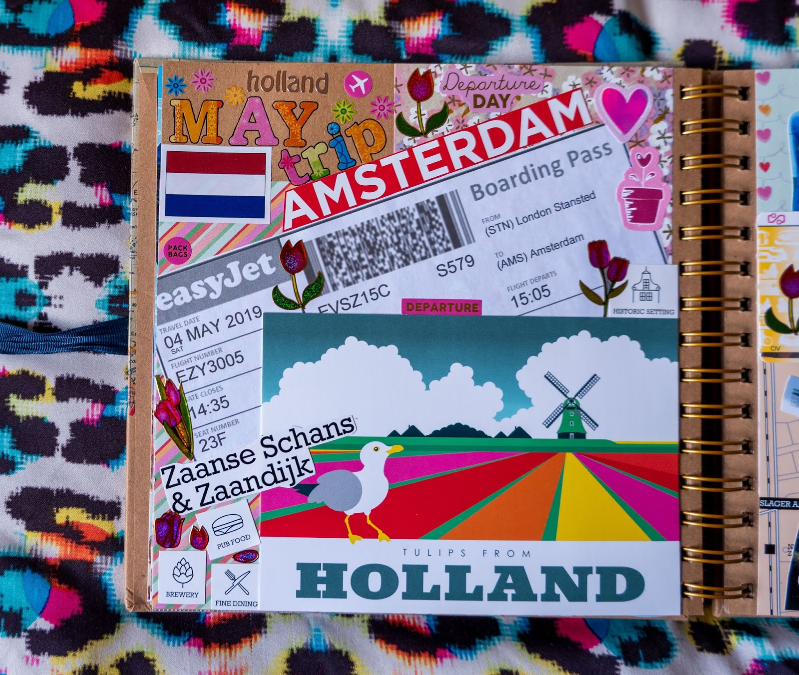 Amsterdam pages in my 2019 travel scrapbooks