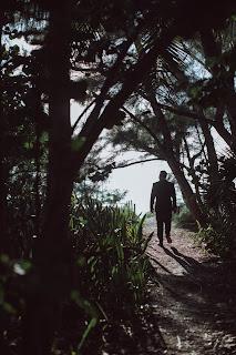 Unposed photo of groom on Captiva Island