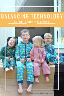 balancing technology, technology and children, themummyadventure.com