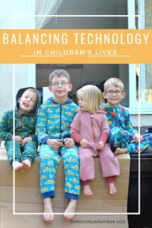 balancing technology, technology and children, themummyadventure.com