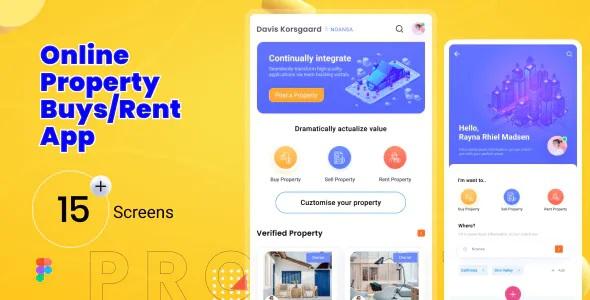 Best Online Property Mobile App Figma Template