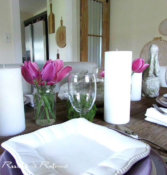 Simple Table Decor for Spring