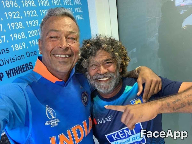 Hardik Pandya And Lasith Malinga FaceApp Challanege
