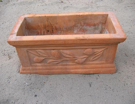 Terracotta Pflanzkübel Frostfest Eckig