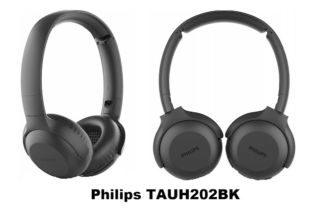 Philips TAUH202BK wireless Bluetooth headphones with mic