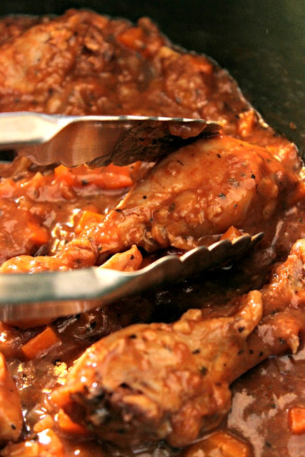 Fall Off The Bone Braised Chicken Legs: Serve with the Savory Sauce!
