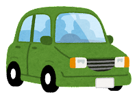 緑の自動車のイラスト