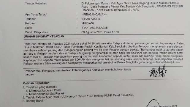 Polisi didesak usut dalang penyerangan kepada tiga orang wartawan di Bengkalis