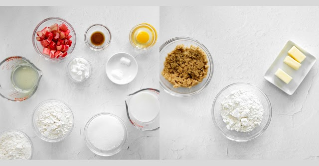muffin ingredients in bowls
