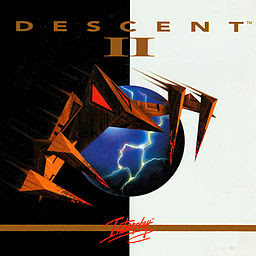 Descent 2+pc+game+3d+retro+art+cover